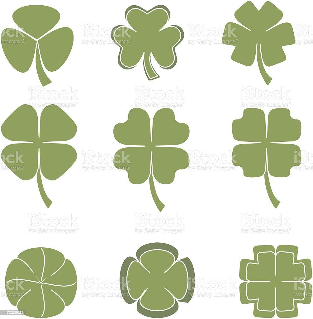 lucky clovers royalty-free stock vector art
