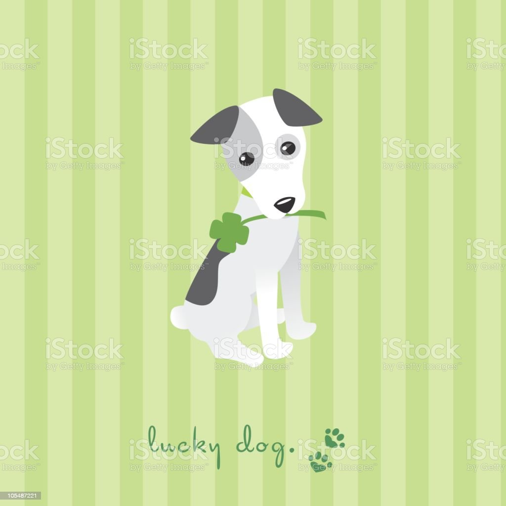 Lucky Dog royalty-free stock vector art