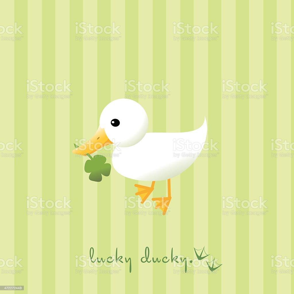 Lucky Duck vector art illustration