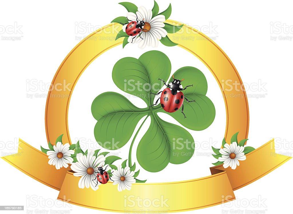 Lucky Emblem royalty-free stock vector art