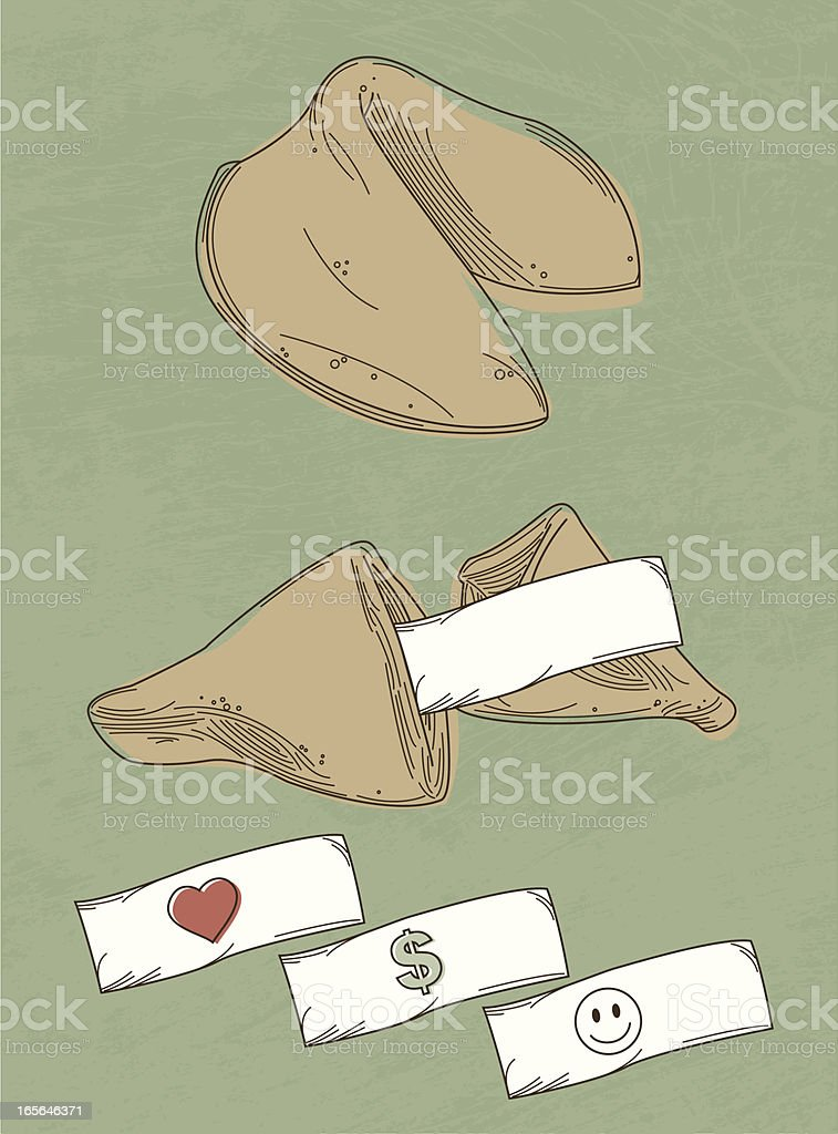 Lucky Fortune Cookies royalty-free stock vector art