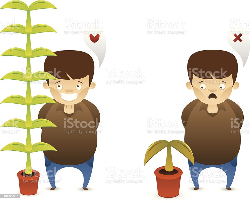 Lucky growth royalty-free stock vector art