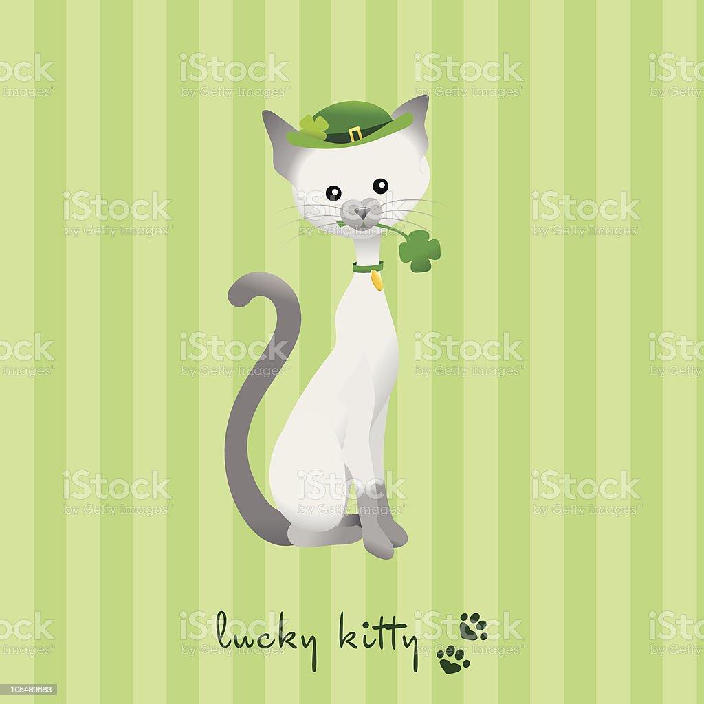 Lucky Kitty vector art illustration