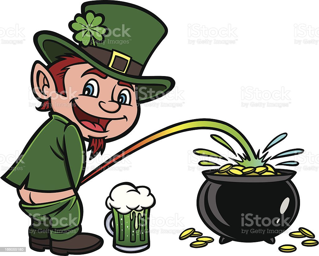 Lucky Leprechaun vector art illustration