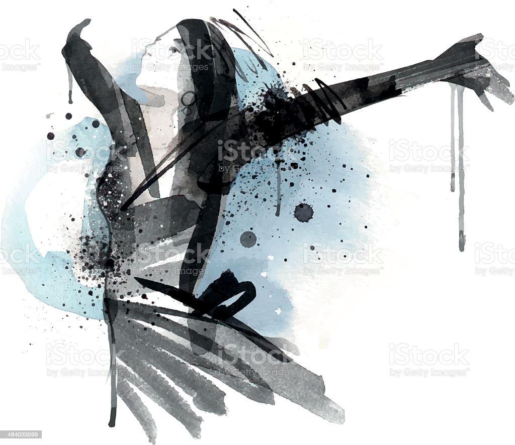 Lucky Life vector art illustration