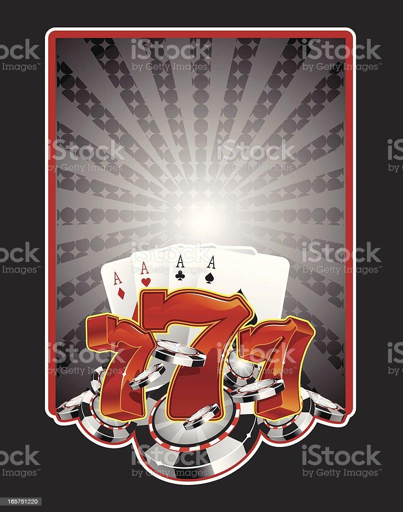 lucky seven poker chips royalty-free stock vector art