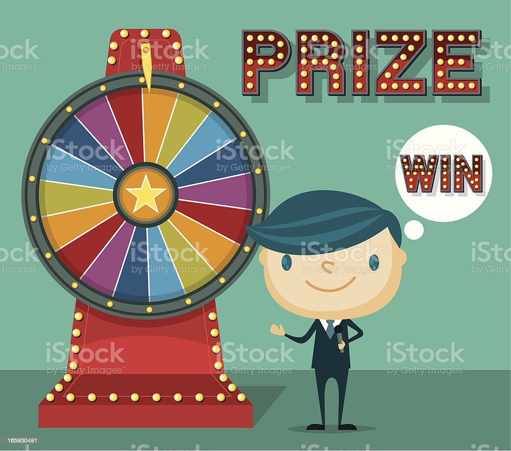 Lucky Wheel vector art illustration