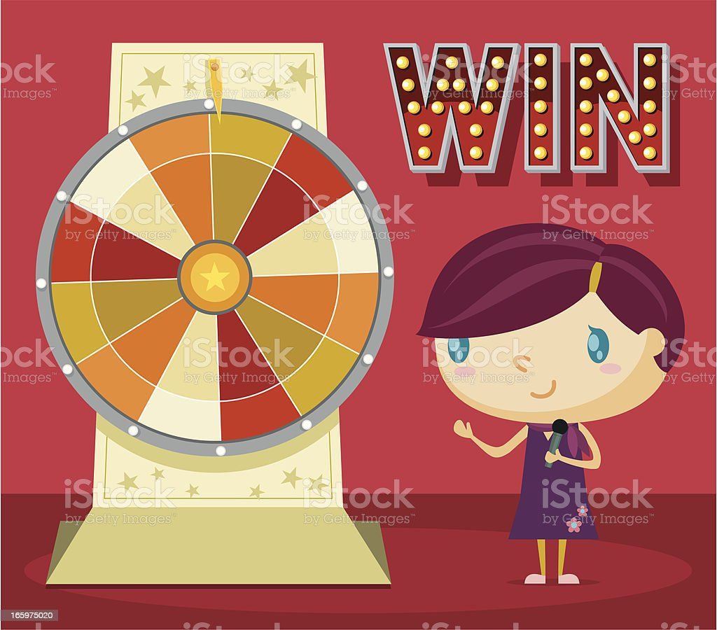 Lucky Wheel royalty-free stock vector art