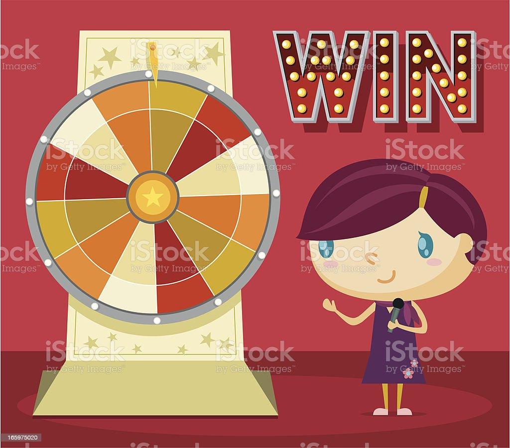 Lucky Wheel vector art illustration