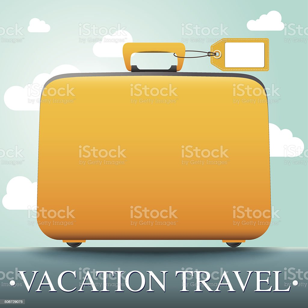 Luggage and travel vacation vector art illustration