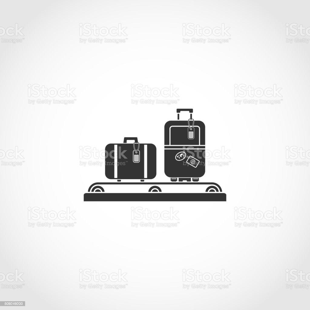 luggage carousel icon vector art illustration
