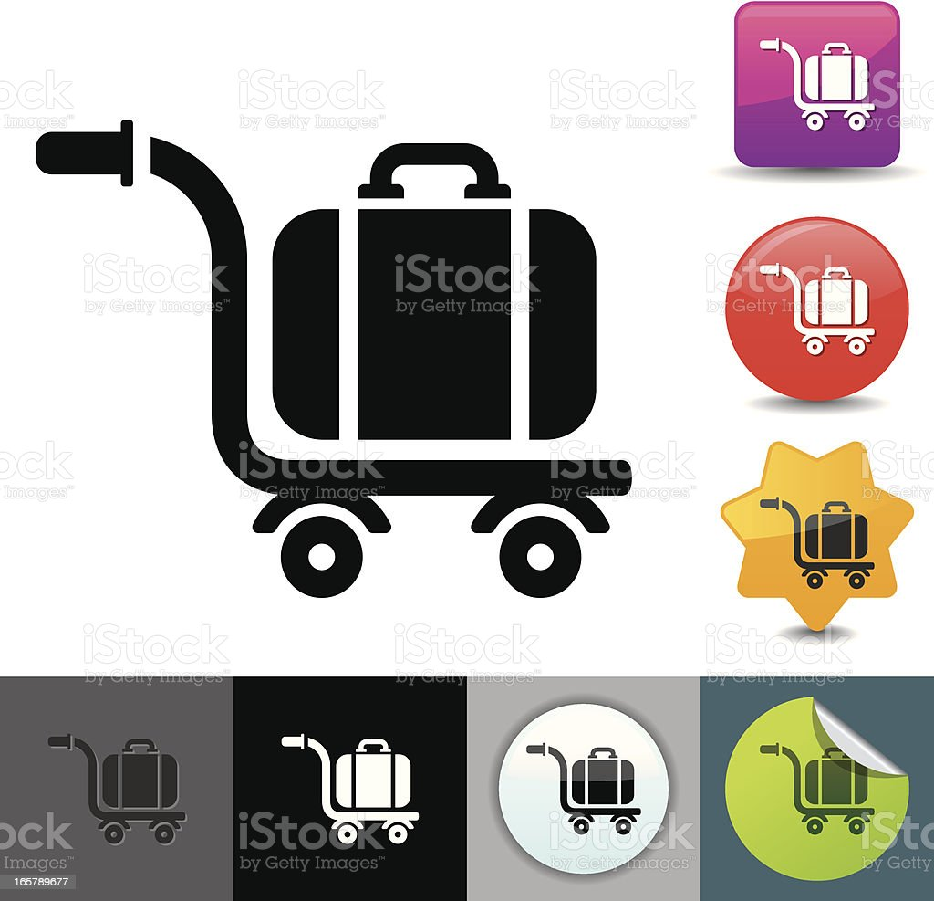 Luggage cart icon | solicosi series royalty-free stock vector art