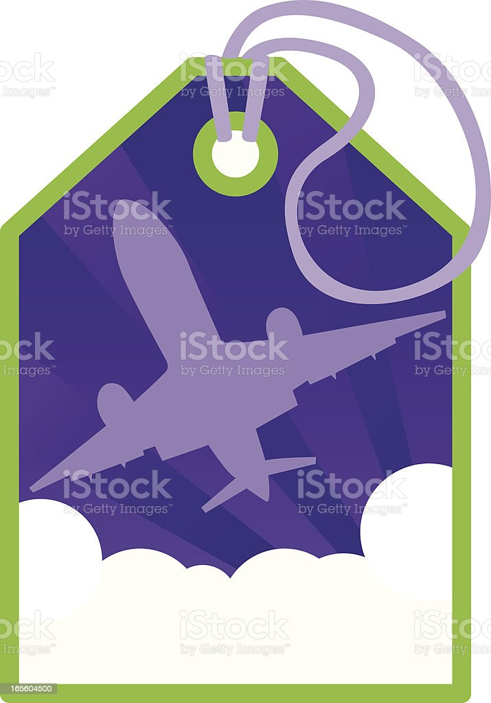 Luggage tag background royalty-free stock vector art