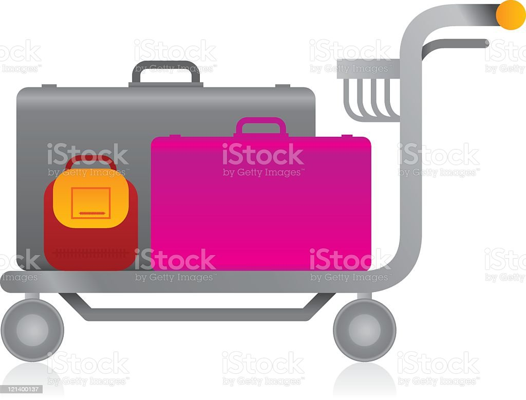 Luggage Trolley royalty-free stock vector art