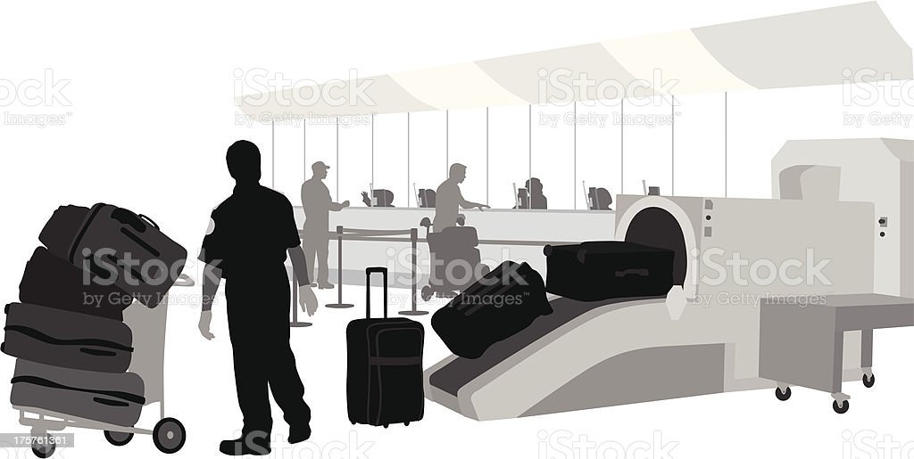 Luggage royalty-free stock vector art