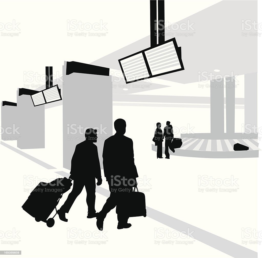 Luggages Vector Silhouette royalty-free stock vector art