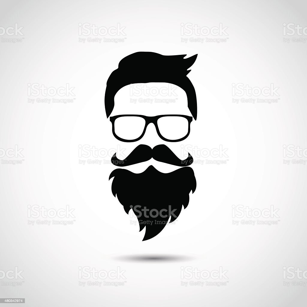 Lumber jack. Hipster portrait. vector art illustration