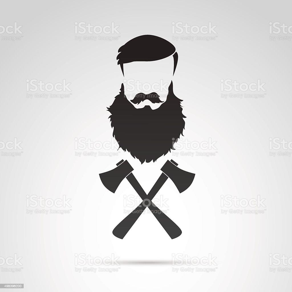 Lumber jack icon. vector art illustration