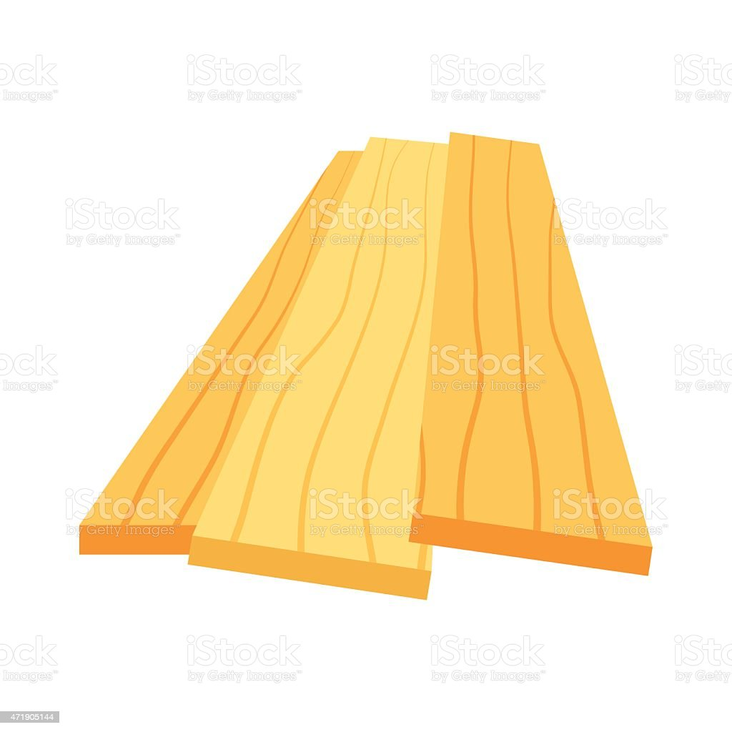 Lumber (timber), stack of wooden planks (bars), vector vector art illustration