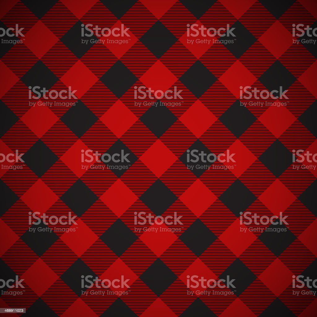 Lumberjack plaid pattern tilted vector art illustration