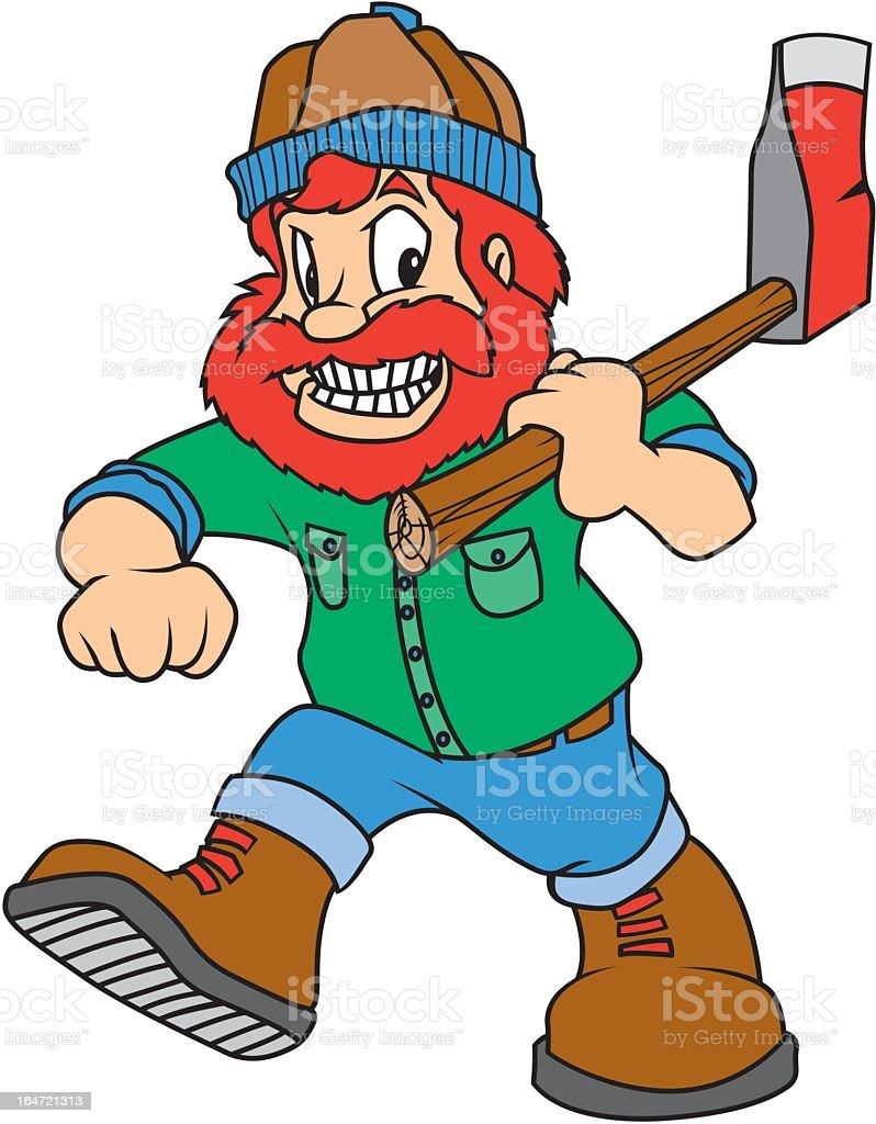 Lumberjack royalty-free stock vector art