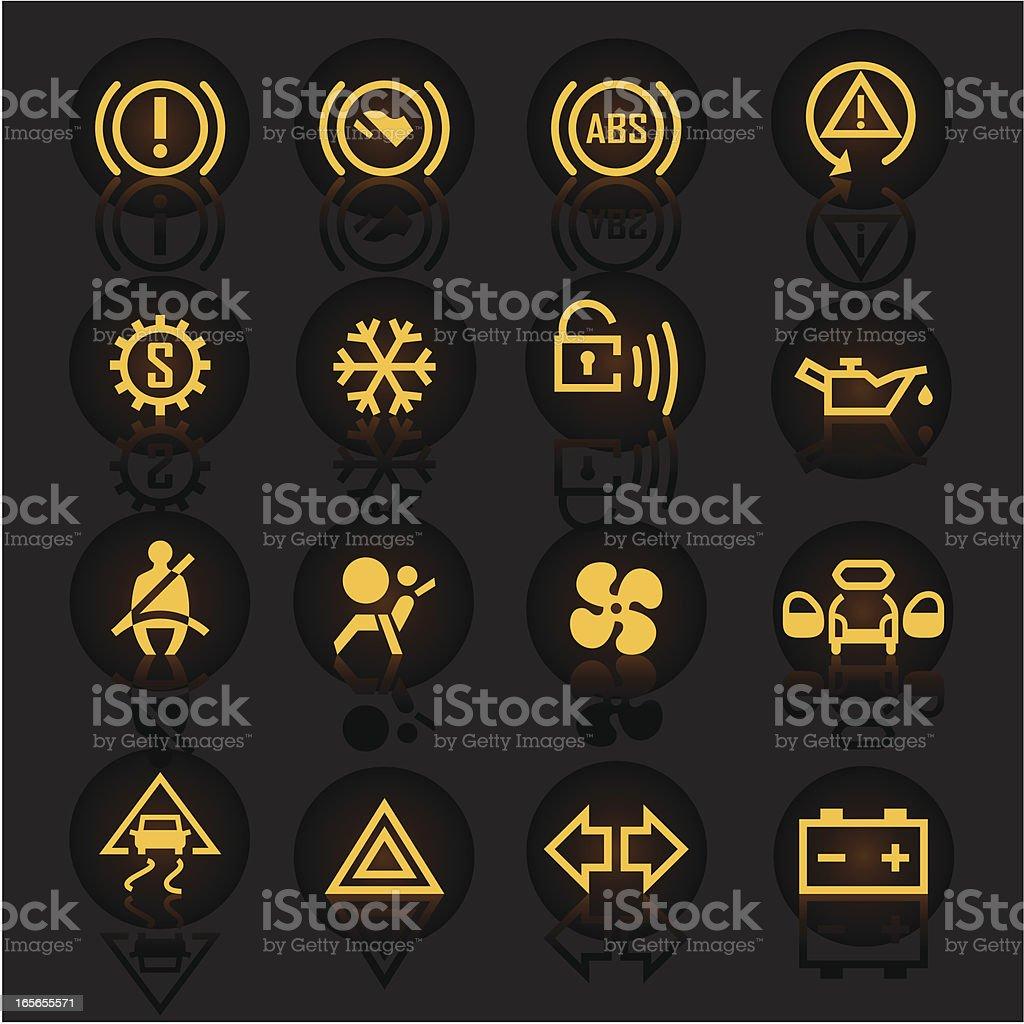 Luminescent Car Indicators vector art illustration