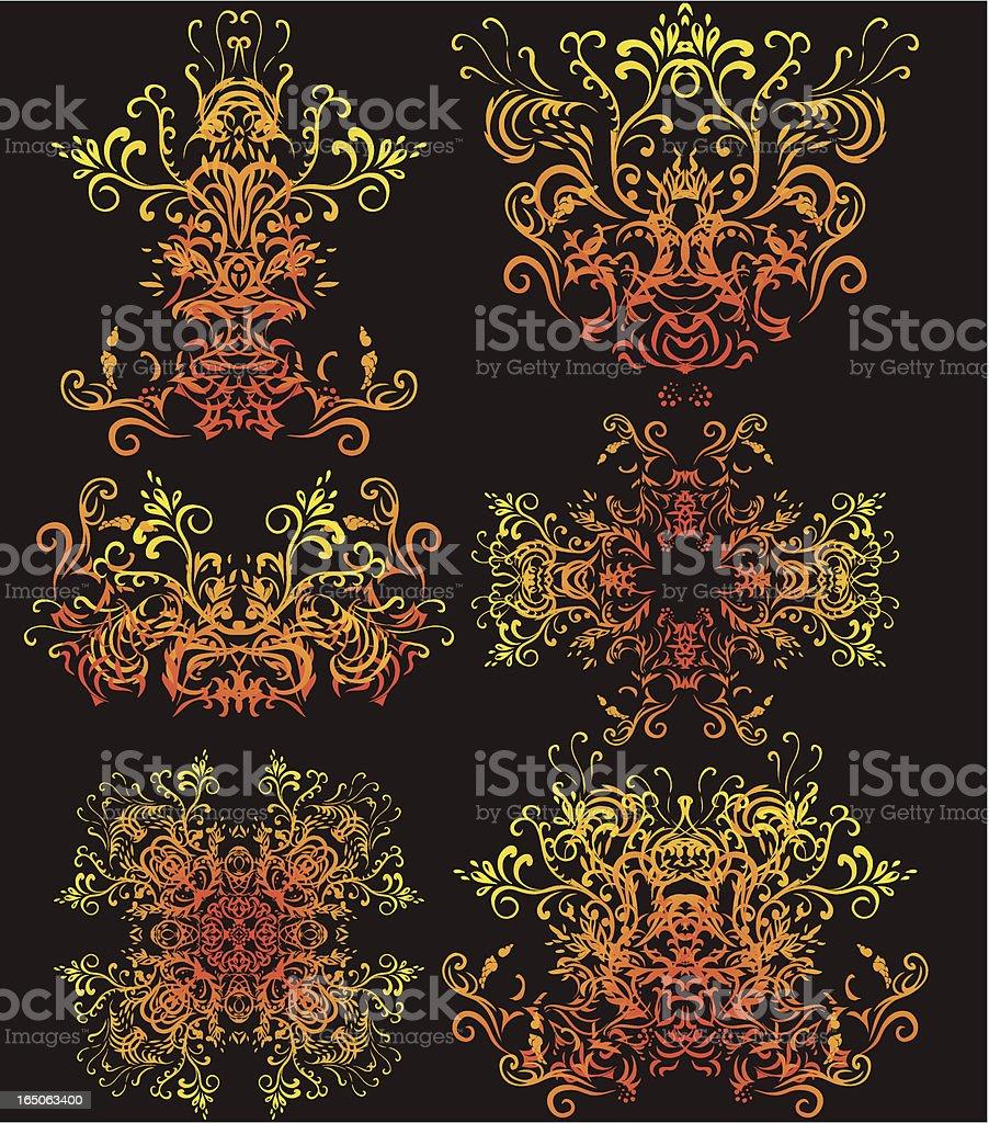 luminous decorations royalty-free stock vector art