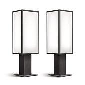 Luminous Rectangular Poster Stands Pillars for Indoor Advertising Side View