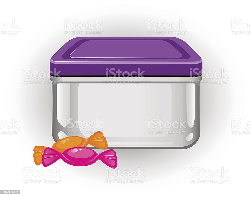 Lunch Box vector art illustration