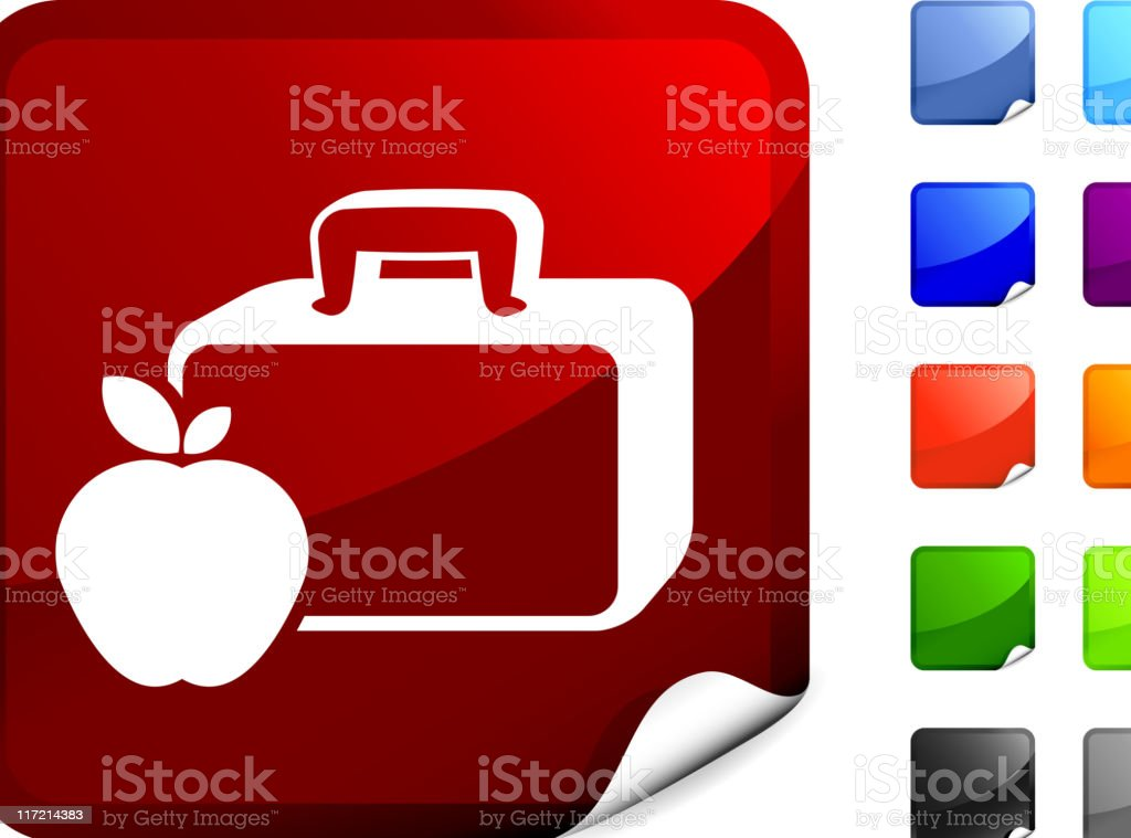 lunch box with apple internet royalty free vector art royalty-free stock vector art