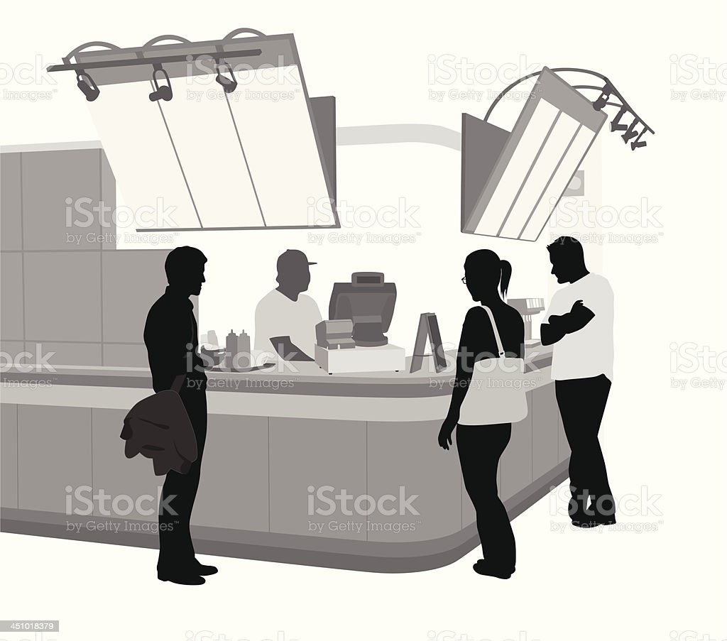 Lunch Crowd vector art illustration