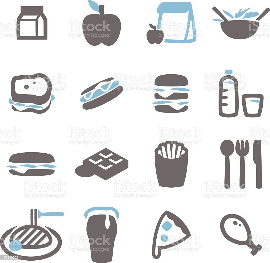 Lunch icon vector art illustration