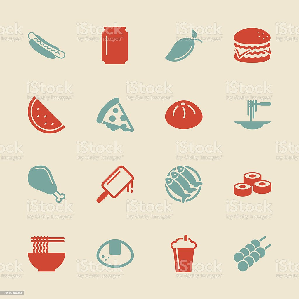 Lunch Icons - Color Series   EPS10 vector art illustration