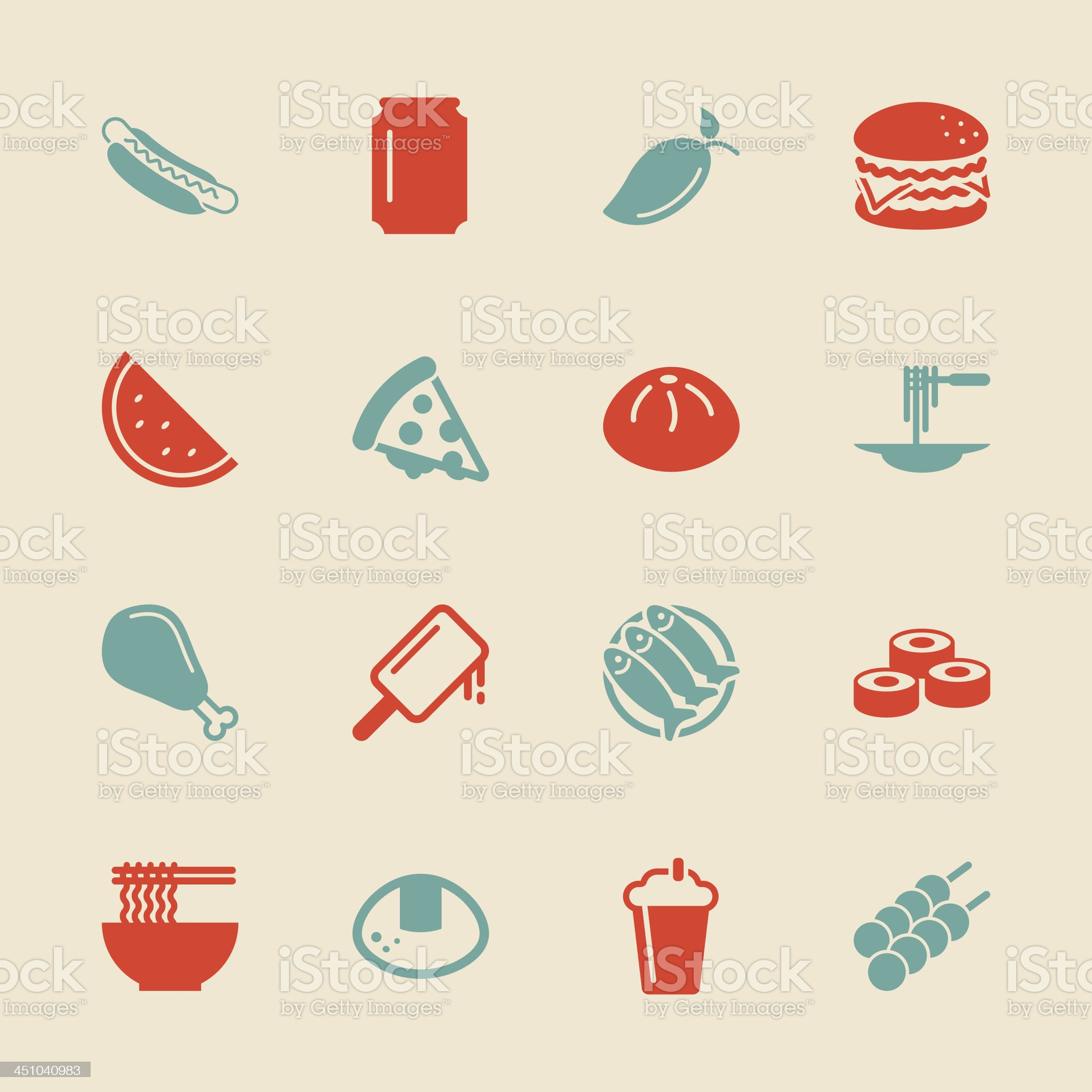 Lunch Icons - Color Series | EPS10 royalty-free stock vector art