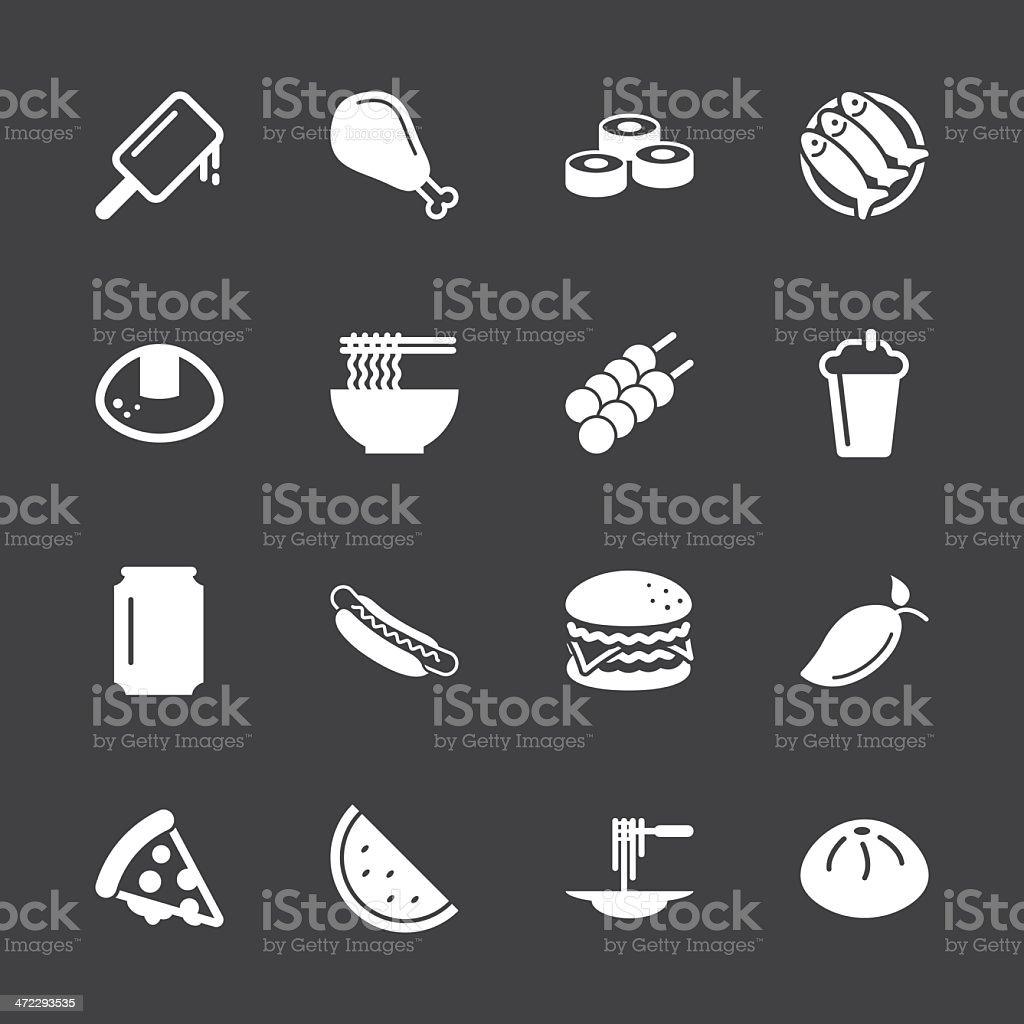 Lunch Icons - White Series   EPS10 vector art illustration