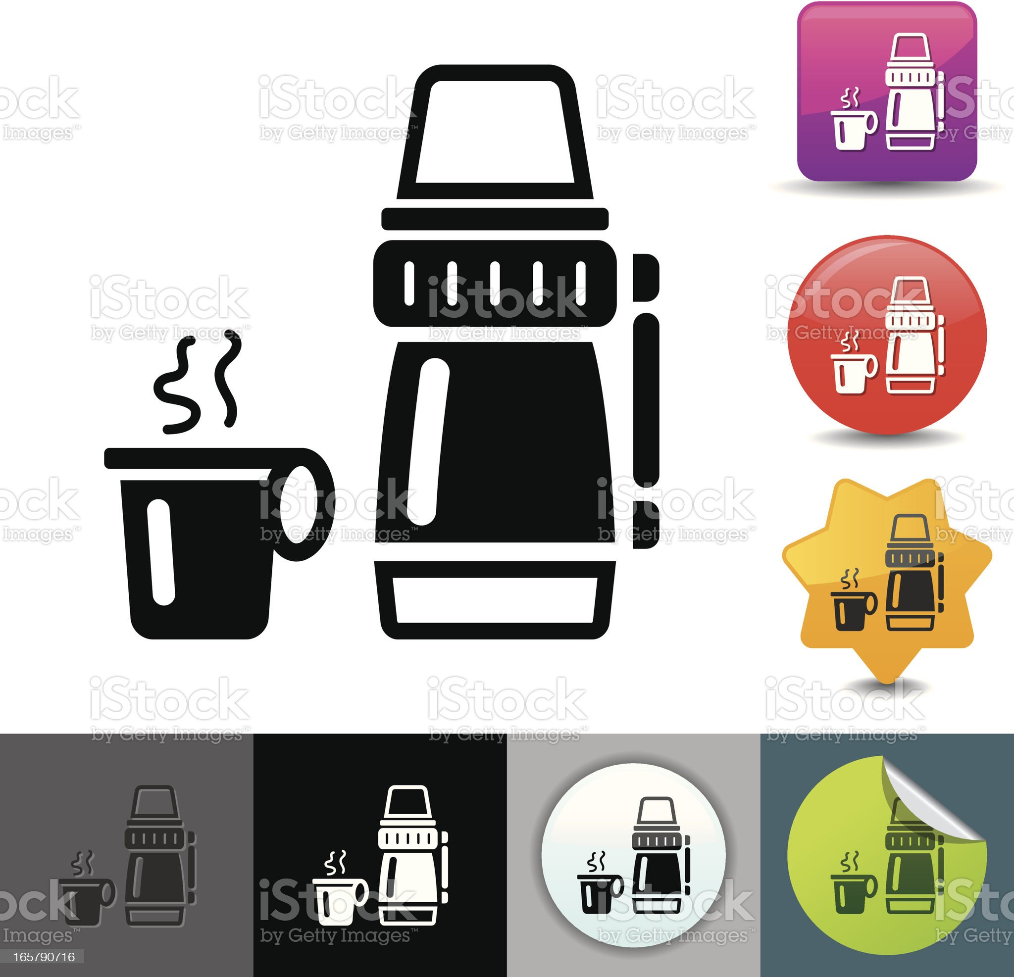 Lunch thermos icon | solicosi series royalty-free stock vector art