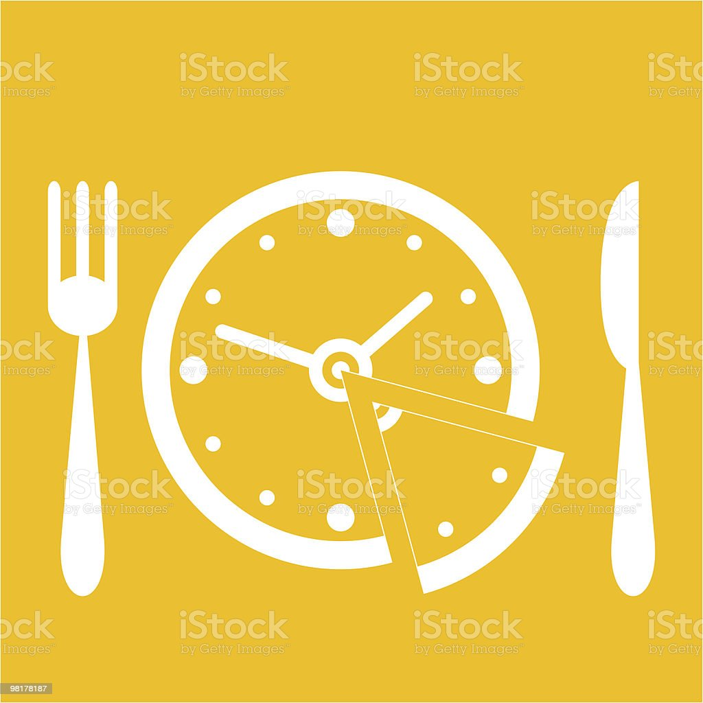 Lunch time royalty-free stock vector art