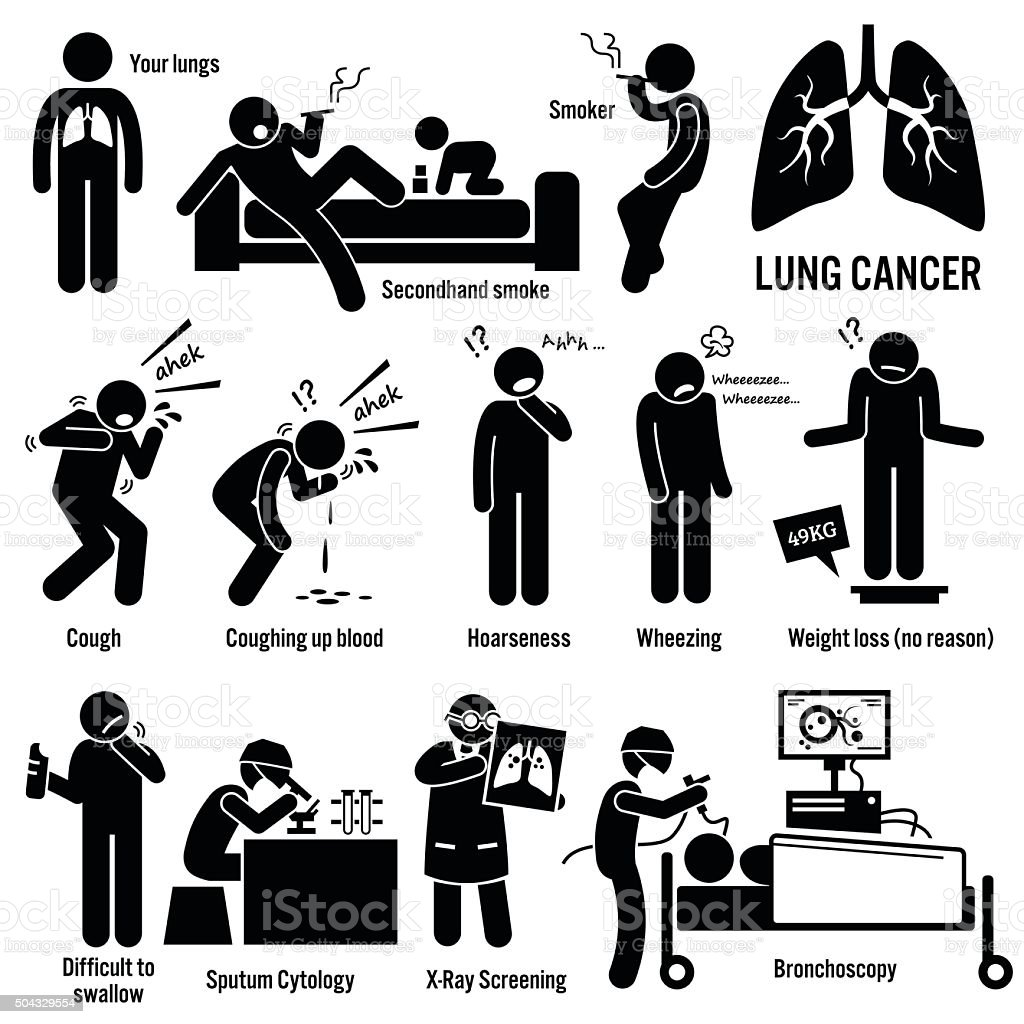 Lung Cancer Illustrations vector art illustration