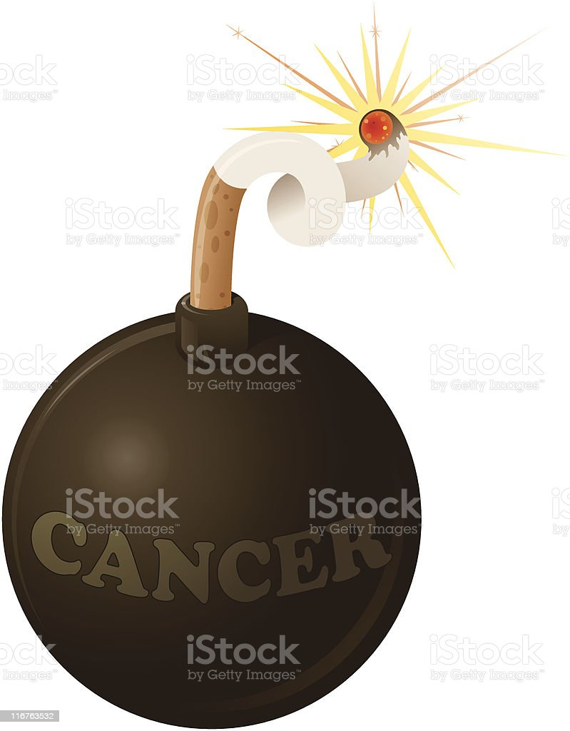 Lung Cancer is a Smoke Bomb vector art illustration