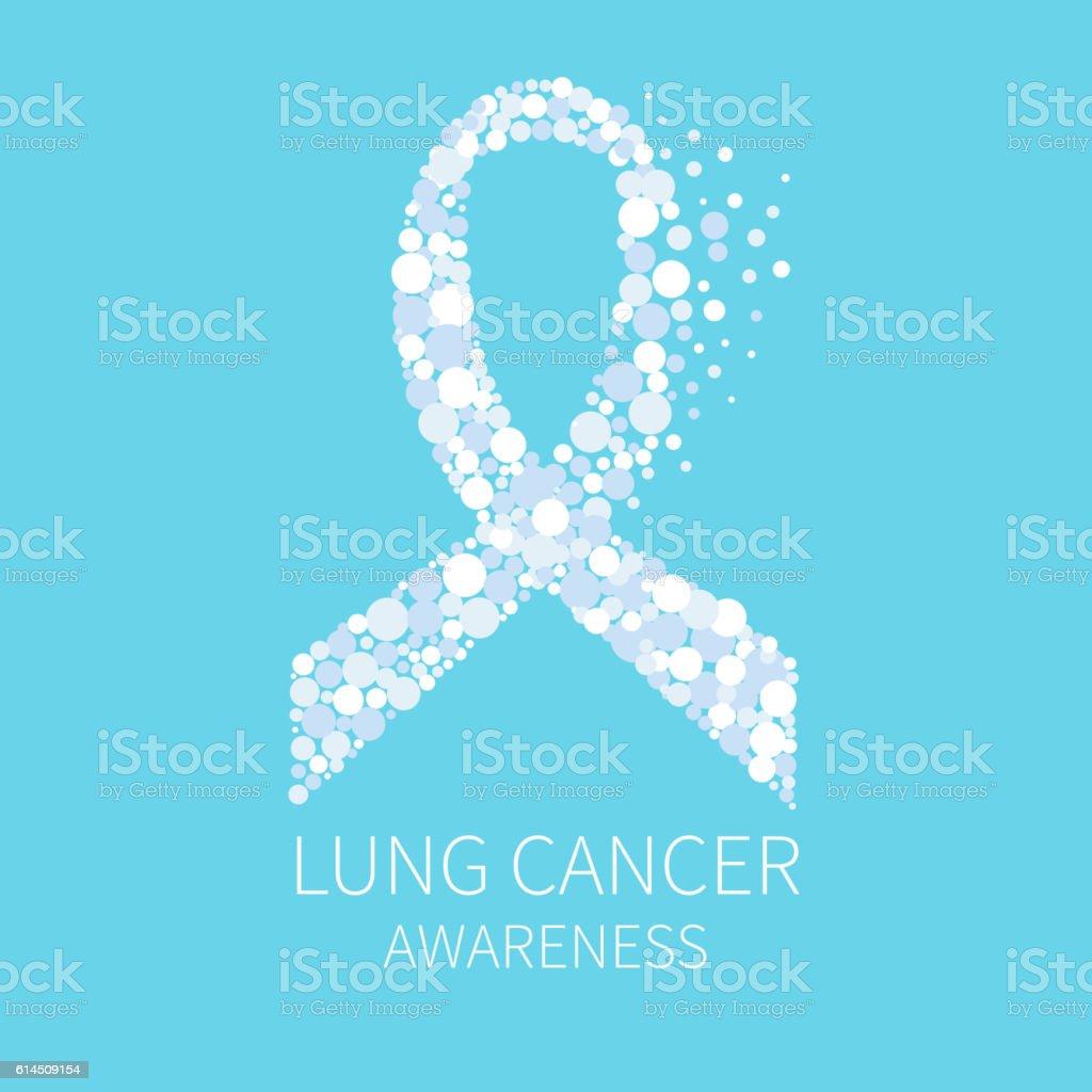 Lung cancer ribbon vector art illustration