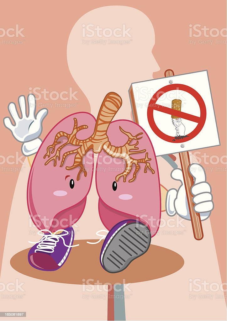 Lung in protest royalty-free stock vector art