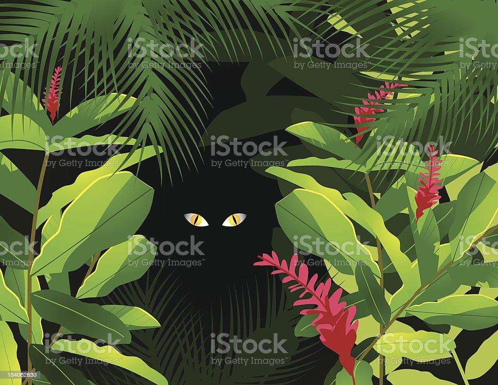 Lurking vector art illustration
