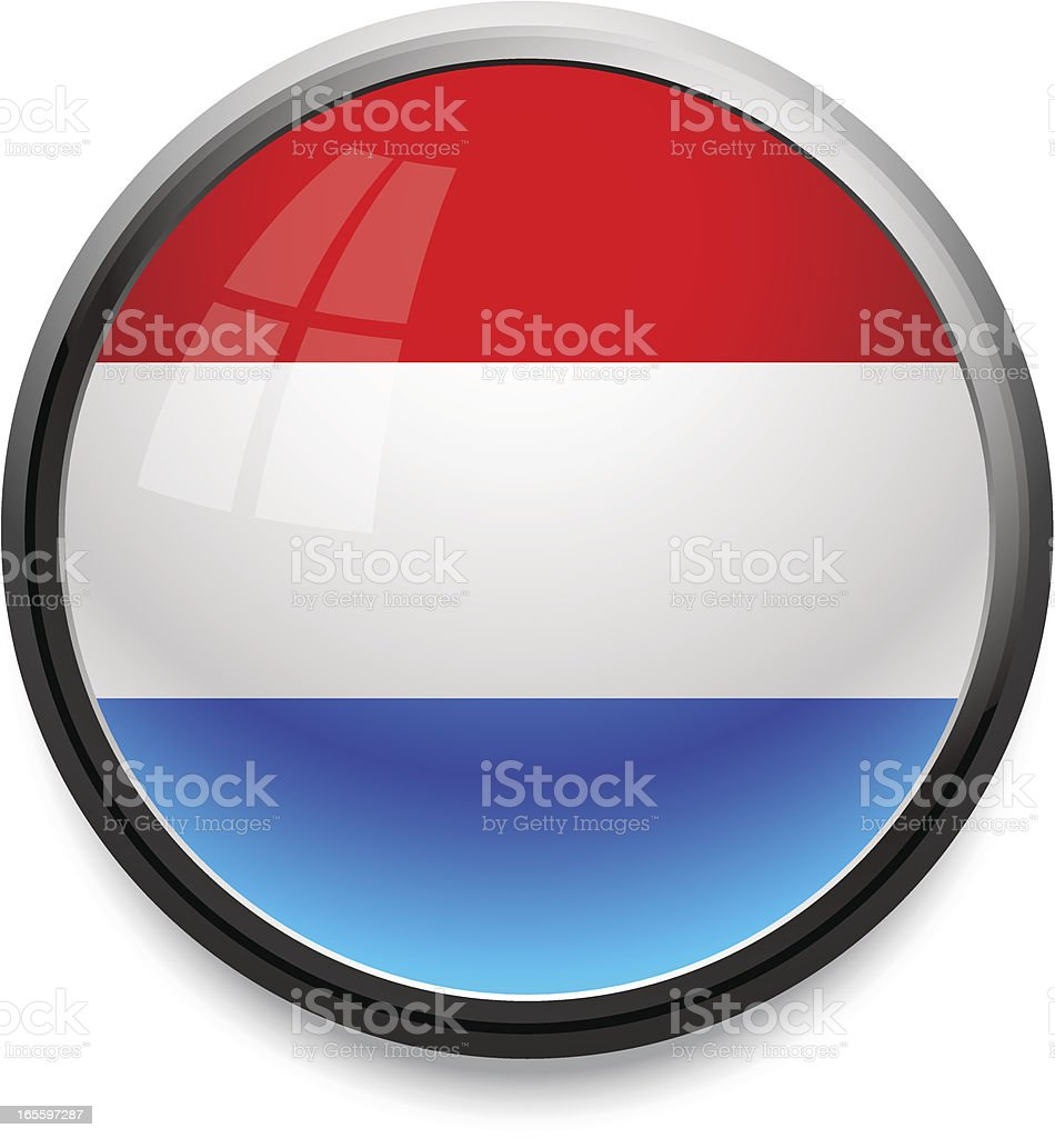 Luxembourg - flag icon royalty-free stock vector art