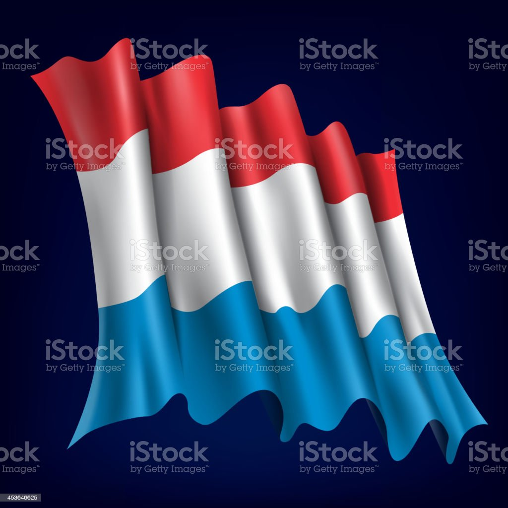 Luxembourg, Luxembourgian Flag royalty-free stock vector art