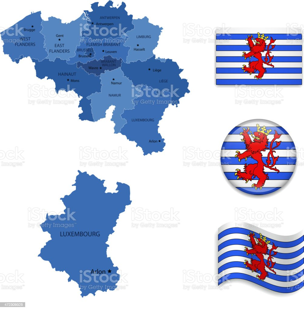 Luxembourg( Alternative)Province set royalty-free stock vector art