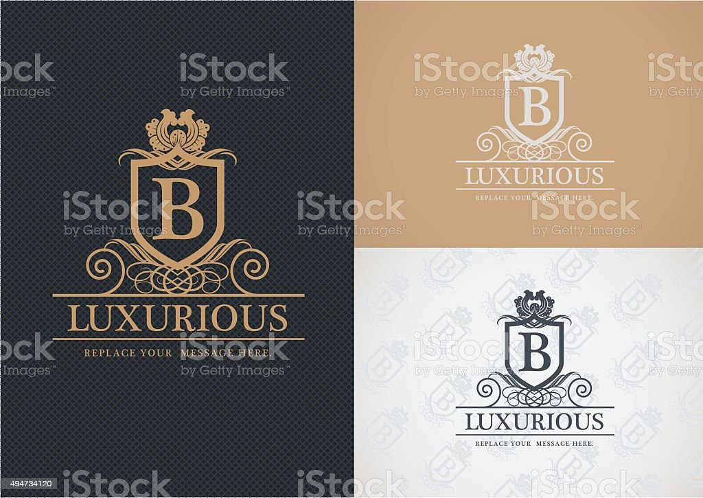 Luxurious logo design. vector art illustration