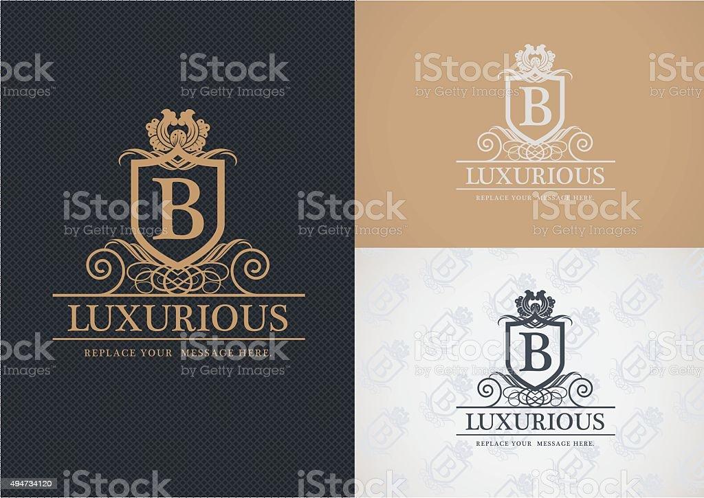Luxurious logo design. vector art illustration