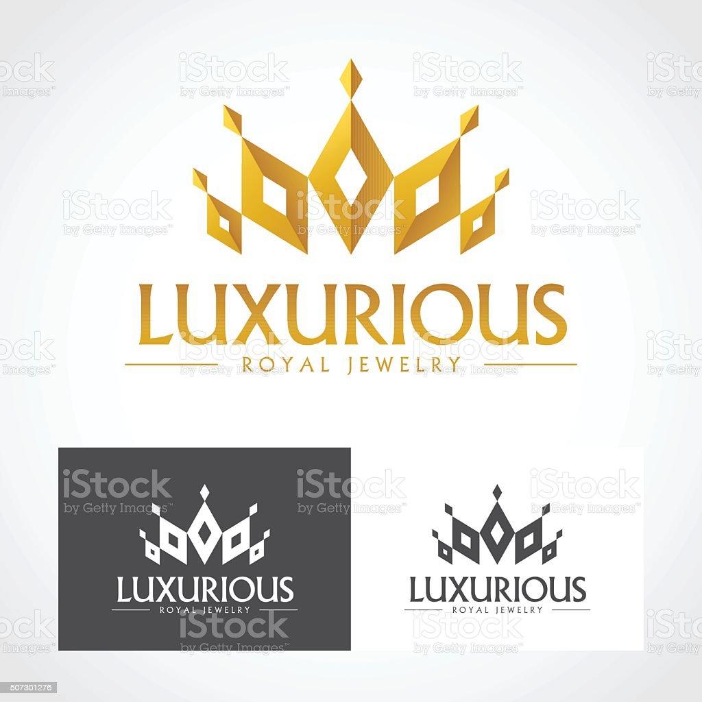 Luxurious royal jewelry vector art illustration