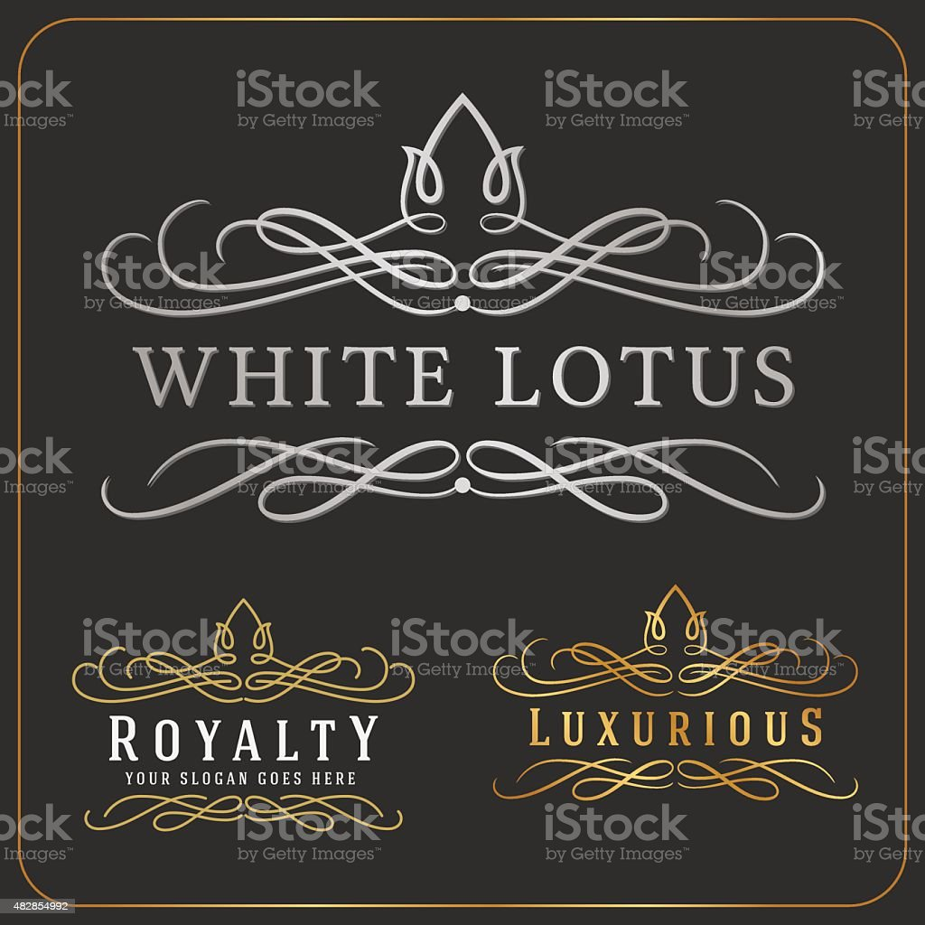 Luxurious Royal Logo Vector Re-sizable Design Template vector art illustration