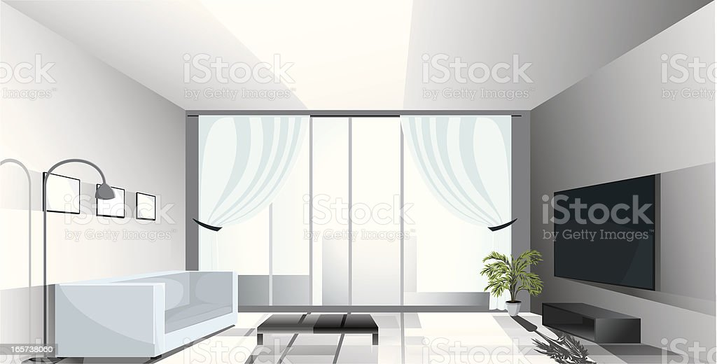Luxury apartment. royalty-free stock vector art